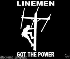 ELECTRICAL LINEMAN POLE CLIMBER LINESMAN ELECTRICIAN CABLE SERVICE DECAL STICKER