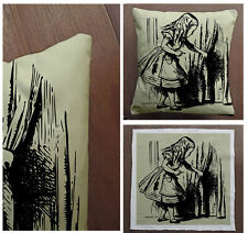 Alice In wonderland Door  -Cushion Fabric Panel Or Case or with Filling