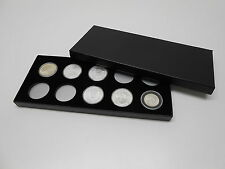Display Box for Coins in Airtite Capsule Holders 10 H Black Silver Eagle Morgans