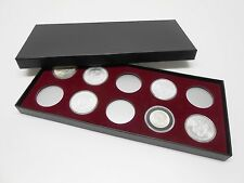 Display Box for Coins in Airtite Capsule Holders 10 H Burg Silver Eagle Morgans