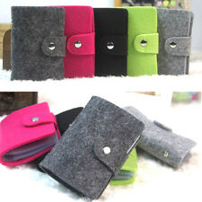 1pc Fashion Portable Soft Felt Business Credit Name ID Card Holder Wallet Case