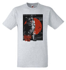 Rise Of the Zombie Cats B Movie Retro T shirt