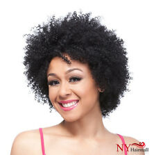 It's a Cap Weave Human Hair Wig Afro Curl