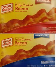 Oscar Mayer Fully Cooked Bacon Thick Cut Or Original 2.52oz ( 71g)