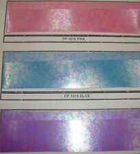 "Rainbow Metallic Plastic Vinyl in 3 colors 40"" Wide fabric by the yard"