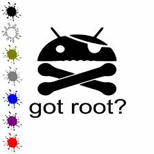 Got Root? vinyl decal funny android sticker got root sticker super user