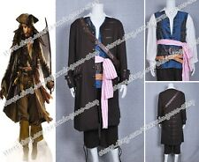 Pirates Of The Caribbean Captain Jack Sparrow Cosplay Costume Party Halloween