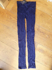 ATMOSPHERE BY PRIMARK NAVY BLUE CABLE KNIT LEGGINGS FOOTLESS TIGHT 6 8 10 12