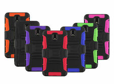 BLACK RUGGED HYBRID CASE COVER+CLIP HOLSTER FOR SAMSUNG GALAXY NOTE III 3 N9000