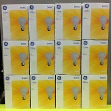 12 ~ 4 Packs 48pc. GE Basic ~ 100w ~ 75w ~ 60w ~ 40w ~ Incandescent Light bulbs
