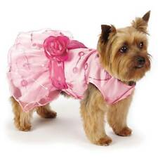 East Side Collection Elegance Girly Pink Rosette Pet Dog Party Dress XXS-S/M