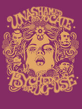 Unashamed Advocate of Psychedelic Drug Use t-shirt LSD Ginsberg Burroughs Leary