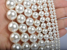 1Str 2MM 3MM 4MM 6MM 8MM 10MM-20MM South Sea white shell pearl round beads 15.5""