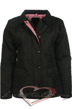 WOMENS LADIES QUILTED PADDED PLUS SIZE BUTTON / ZIP JACKET COAT SIZES 16 18 20