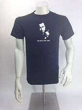 "Bill Hicks T shirt ""Today a young man on acid"" quote screen printed black cool"