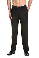CONCITOR Men's TUXEDO Pants Flat Front with Satin Band BLACK