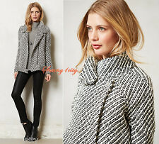 NEW L Anthropologie Static Stripe Moto Jacket By Second Female $178 Sold out