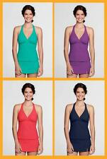 Lands' End- Beach Living Women's Tankini Top D-Cup + Mastectomy $50-$59 NIP