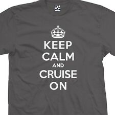 Keep Calm and Cruise On T-Shirt - Lowrider Cruiser Bomb - All Sizes & Colors