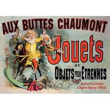 NEW! Vintage Aux Buttes Chaumont Jouets French Friends TV Poster Decor Wall Art