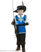 ☆ Boys Musketeer Muskateer Curriculum Book Day Fancy Dress Costume Outfit ☆