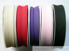 POLYCOTTON BIAS BINDING TAPE 25 METRE ROLL ( CHOICE OF WIDTH & COLOUR )