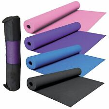 Yoga Mat Exercise Camping Fitness Physio Pilates Gym Mats Non Slip With Carrier