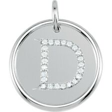 Posh Mommy Jewelry Initial D Roxy Pendant with Diamonds, Silver or 14K Gold