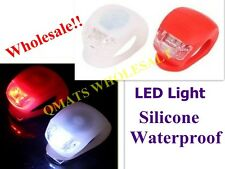 2/4/8 Pcs Silicone Waterproof LED Bicycle Cycle Bike front Rear light WHOLESALE