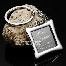 SQUARE SHAPE PHOTO PICTURE FRAME KEYCHAIN KEY CHAIN RING FOB WEDDING FAVORS GIFT