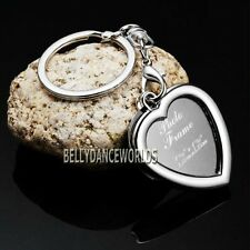 HEART SHAPE PHOTO PICTURE FRAME PURSE CHARM KEYCHAIN KEY CHAIN RING LOVE GIFT 3D