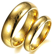 The Lord of the Rings Gold Tungsten Steel Band Couple Love Gift Love Wedding New