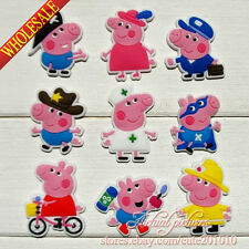 8-45pcs For Peppa Pigs Kids PVC Shoe Charms Shoe Accessories Kids Party Gifts