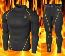 [Tesla] Mens Compression HOTGEAR Base Layer Top & Pants Twin-Pack T22BO P23BO