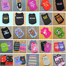 New Summer Various Pet Puppy Small Dog Cat Pet Clothes Vest T Shirt Apparel