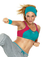 BRAND NEW - SHOCK ABSORBER SPORTS BRA - S4490 - TURQUIOSE/PINK - NEW - LEVEL 4