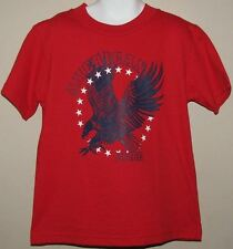 NWT~BOUTIQUE~MIS TEE V-US~AMERICAN PRIDE~RED~EAGLE~PATRIOTIC TEE~TODDLER