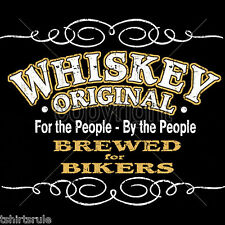 Biker T shirt Whiskey Saloon Beer Drinker Mens Black Size S to 4XL Free Shipping
