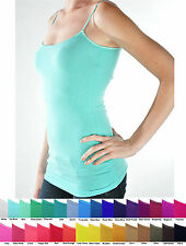 NEW NWOT BOZZOLO Long Hip Length Tank Top BUILT-IN SHELF BRA lining JUNIOR S M L