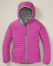 EDDIE BAUER Girls MicroTherm Hooded 550FP Down Winter Jacket Coat  M,L,10,12 NEW