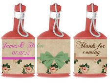 Personalised VINTAGE Antique Rose Party Popper WRAPPERS ONLY Wedding Hen Night