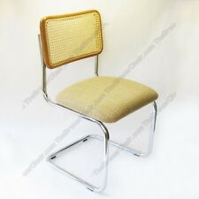 New Marcel Breuer Cesca Side Chair Cushion Seat w/ Honey Cane Back Made in Italy