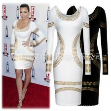 Womens Celeb Style ladies long sleeve Business Pencil Bodycon Party Dress