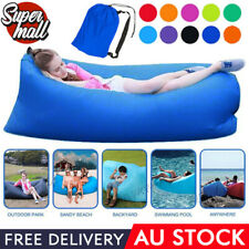 Air Bag Laybag Sofa Bed Fast Inflatable 2Side Pockets Lounge Sleeping Camping AU