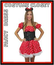 Minnie Mouse Fancy Dress Costume Disney Cartoon Character Mickey Halloween