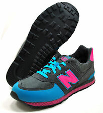 NEW BALANCE KIDS CLASSIC TRADITIONNELS Grey Teal Pink KL574TPG Running Kid Youth