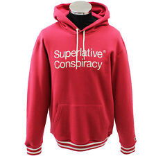 WESC Superlative Conspiracy Hood Red BNWT RRP £55 HALF PRICE FREE UK DELIVERY