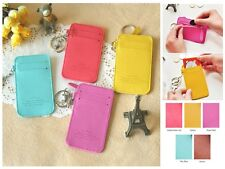 Candy Color Coin Purse Wallet Credit Card Holder Case Key Chain Women Girl Gift
