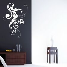 SWIRL FLOWER wall sticker living room bedroom stickers floral decal vinyl