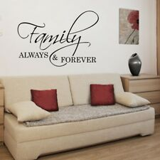 FAMILY ALWAYS AND FOREVER wall quote home longe inspirational decal art vinyl